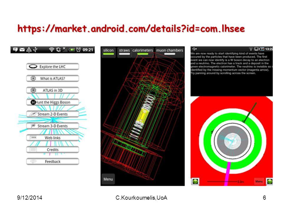 9/12/2014C.Kourkoumelis,UoA6 https://market.android.com/details?id=com.lhsee