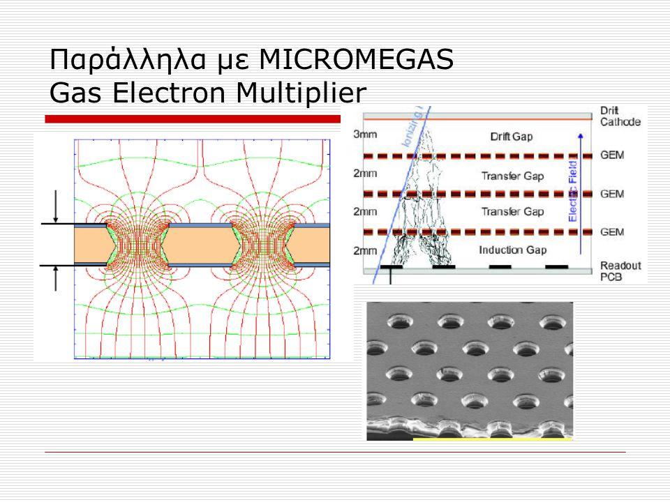 Παράλληλα με MICROMEGAS Gas Electron Multiplier