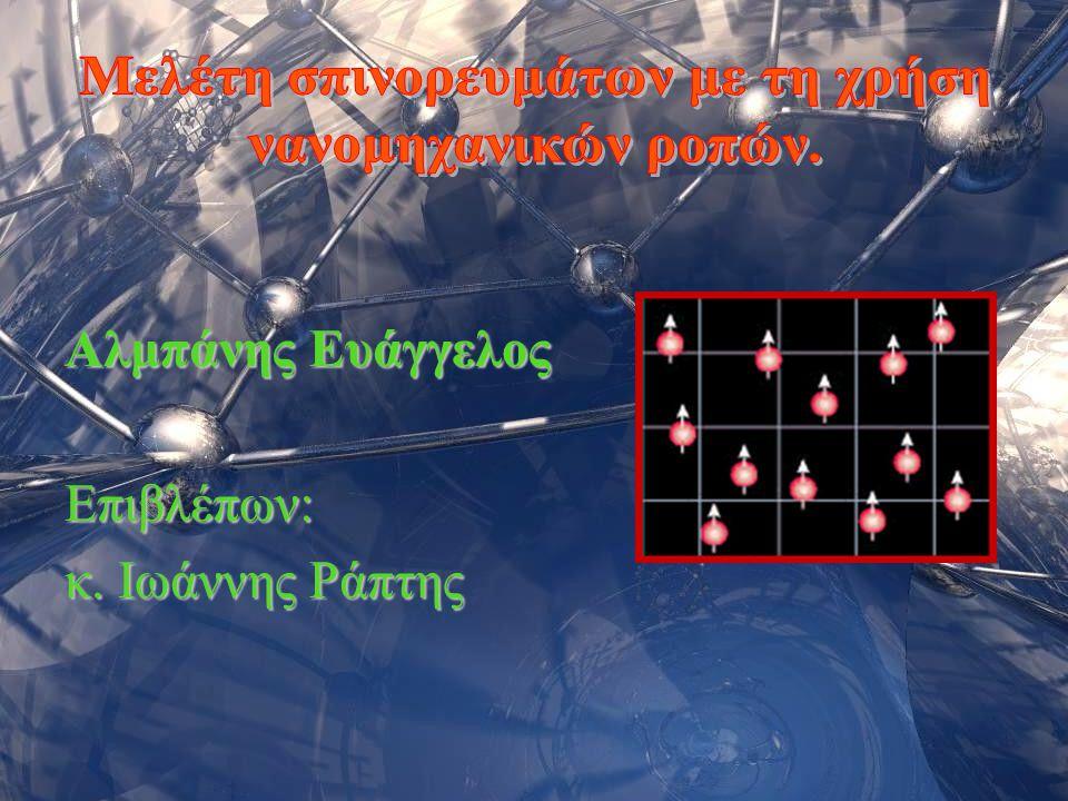 Σεμινάριο Φυσικής 20062 Ορισμός του ηλεκτρονιακού σπίν: Το σπίν είναι ο μοναδικός εσωτερικός βαθμός ελευθερίας του ηλεκτρονίου.