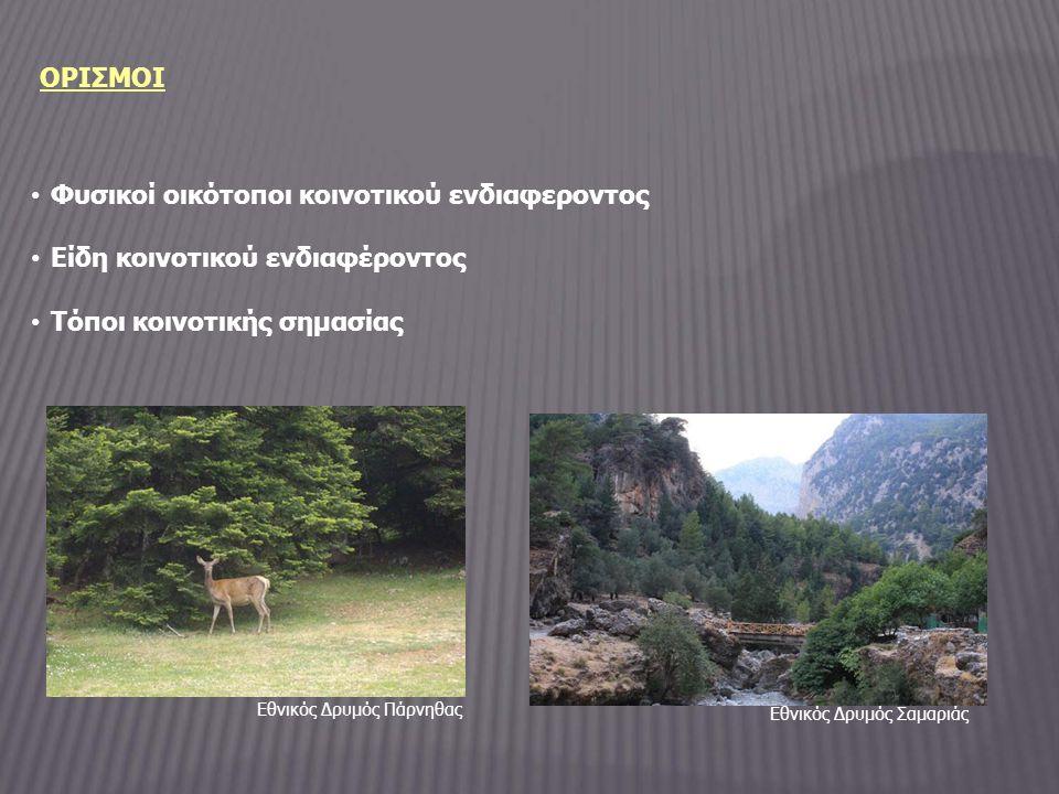 ΣΥΜΜΕΤΟΧΗ ΣΤΟ ΔΙΚΤΥΟ NATURA Συμμετοχή στο Ευρωπαικό Οικολογικό Δίκτυο Ειδικών Ζωνών Διατήρησης ΝATURA 2000 αποσκοπεί στην διασφάλιση της διατήρησης ή ενδεχομένως στην αποκατάσταση σε ικανοποιητικό βαθμό διατήρησης των τύπων φυσικών οικοτόπων και των οικοτόπων των ειδών που αριθμούνται στα δύο πρώτα (Ι και ΙΙ) παραρτήματά της ΚΥΑ (άρθρο 3 ΚΥΑ 33318/3028/1998)