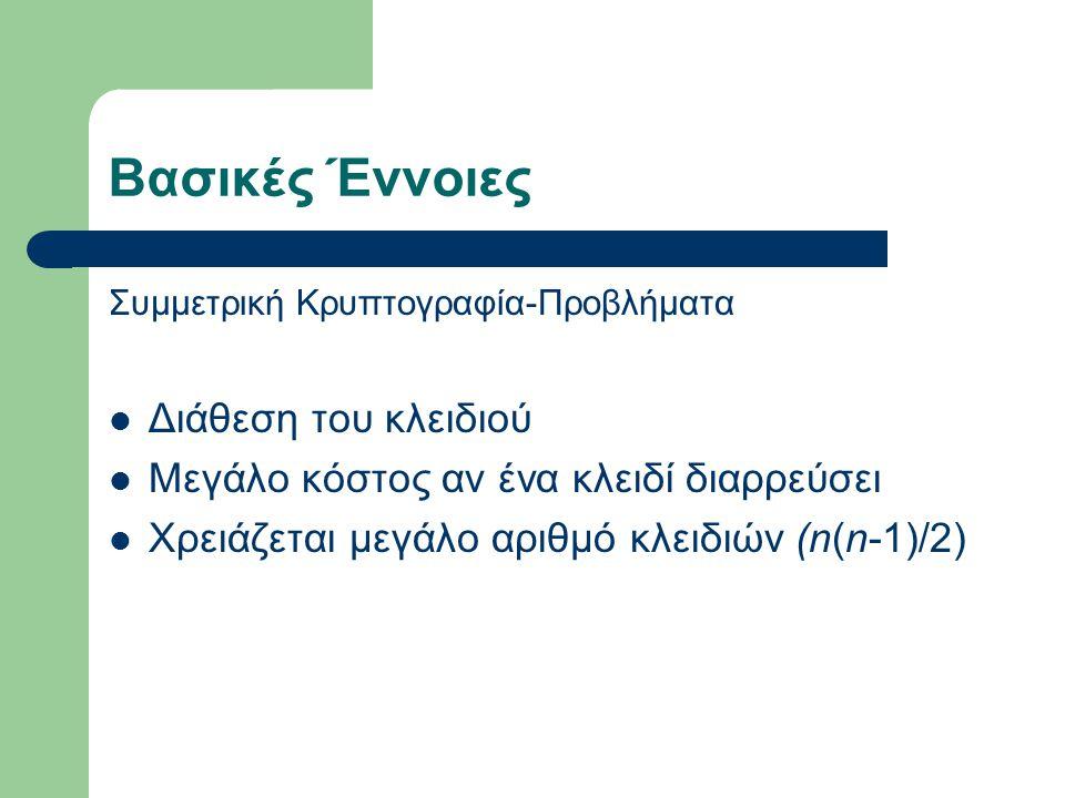 Κέρβερος Φτιάχτηκε στο ΜΙΤ στα πλαίσια του προγράμματος Athena Δίνεται δωρεάν στην διεύθυνση http://www.kerberos.org Είναι διαιτητευόμενο πρωτόκολλο Χρησιμοποιεί συμμετρική κρυπτογραφία (DES)