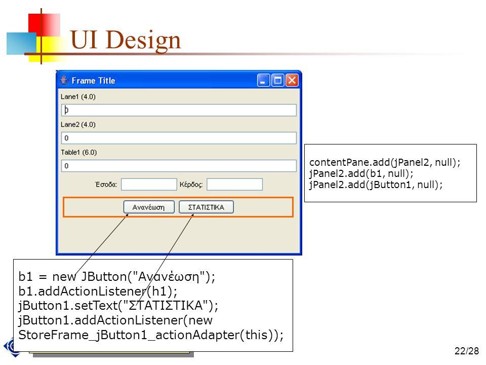 ΕΛΛΗΝΙΚΟ ΑΝΟΙΚΤΟ ΠΑΝΕΠΙΣΤΗΜΙΟ 22/28 UI Design b1 = new JButton(