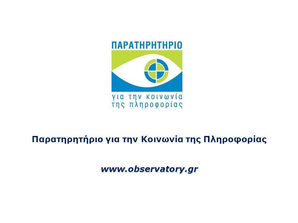 Παρατηρητήριο για την Κοινωνία της Πληροφορίαςwww.observatory.gr