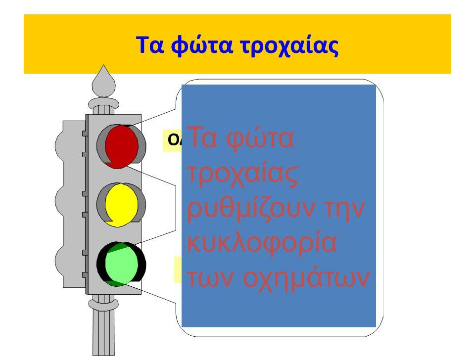 Τα φώτα τροχαίας ΟΔΗΓΕ ΣΤΑΜΑΤΑ! ΟΔΗΓΕ ΕΤΟΙΜΑΣΟΥ ΚΑΙ ΠΕΡΙΜΕΝΕ! ΟΔΗΓΕ ΞΕΚΙΝΑ! Τα φώτα τροχαίας ρυθμίζουν την κυκλοφορία των οχημάτων