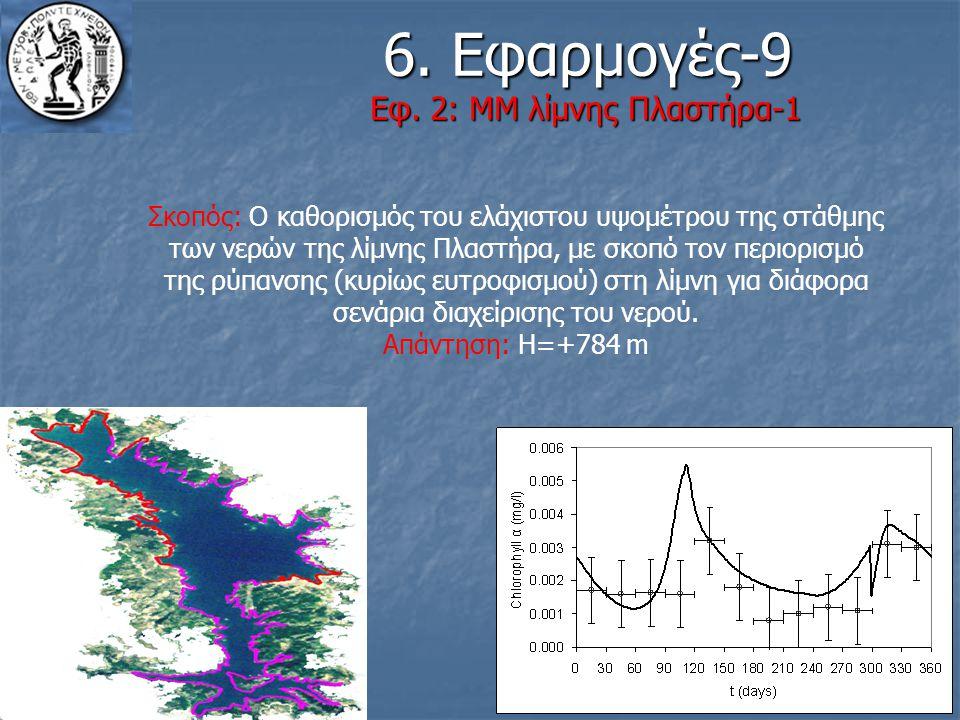 18 6. Εφαρμογές-9 Εφ. 2: ΜΜ λίμνης Πλαστήρα-1 6. Εφαρμογές-9 Εφ. 2: ΜΜ λίμνης Πλαστήρα-1 Σκοπός: Ο καθορισμός του ελάχιστου υψομέτρου της στάθμης των