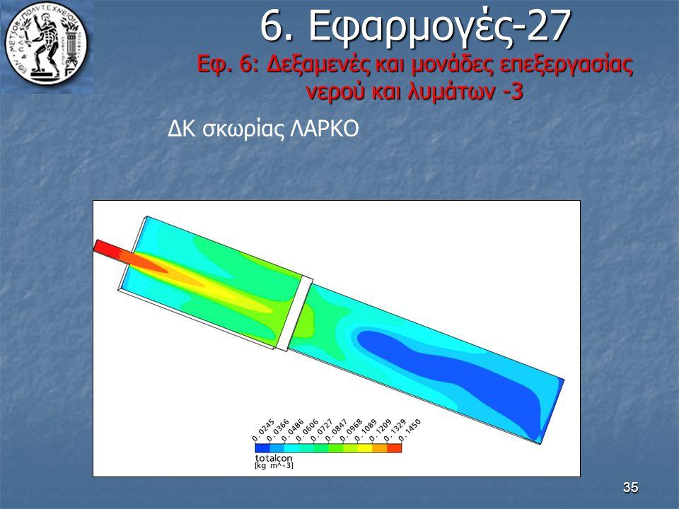 35 6. Εφαρμογές-27 Εφ. 6: Δεξαμενές και μονάδες επεξεργασίας νερού και λυμάτων -3 6. Εφαρμογές-27 Εφ. 6: Δεξαμενές και μονάδες επεξεργασίας νερού και