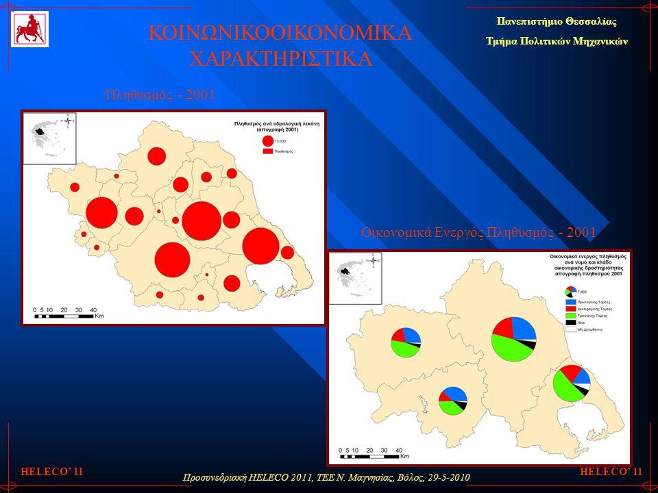 Προσυνεδριακή HELECO 2011, ΤΕΕ Ν. Μαγνησίας, Βόλος, 29-5-2010 Πανεπιστήμιο Θεσσαλίας Τμήμα Πολιτικών Μηχανικών HELECO' 11 ΚΟΙΝΩΝΙΚΟΟΙΚΟΝΟΜΙΚΑ ΧΑΡΑΚΤΗΡ