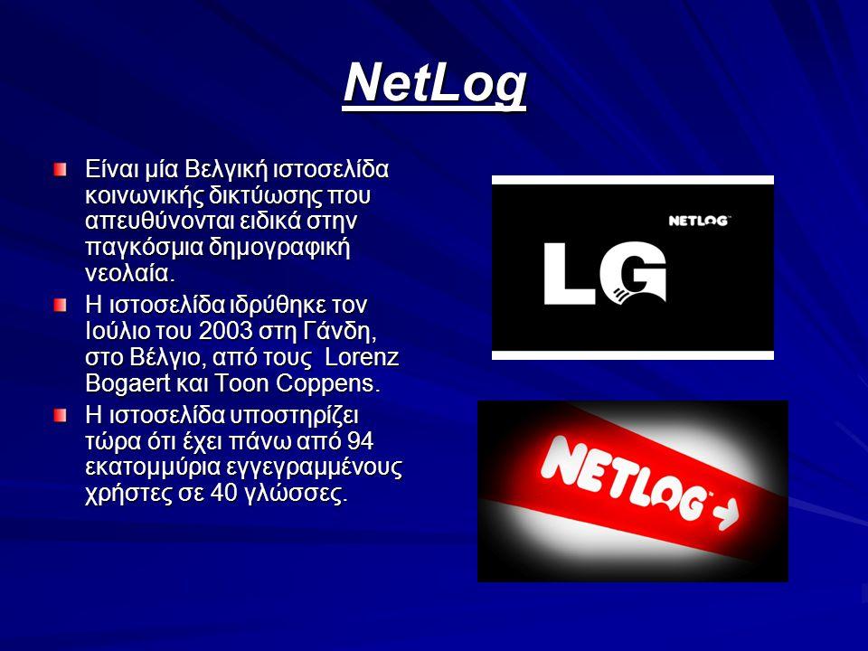 ΝetLog Είναι μία Βελγική ιστοσελίδα κοινωνικής δικτύωσης που απευθύνονται ειδικά στην παγκόσμια δημογραφική νεολαία. Η ιστοσελίδα ιδρύθηκε τον Ιούλιο