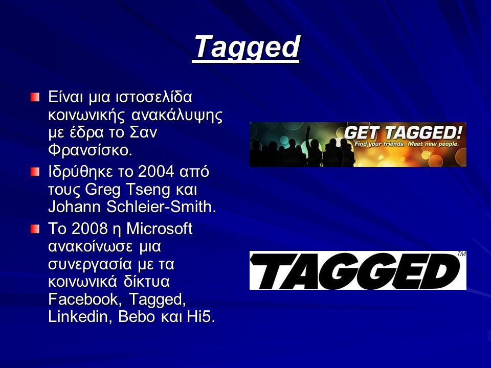 Tagged Είναι μια ιστοσελίδα κοινωνικής ανακάλυψης με έδρα το Σαν Φρανσίσκο. Ιδρύθηκε το 2004 από τους Greg Tseng και Johann Schleier-Smith. Το 2008 η