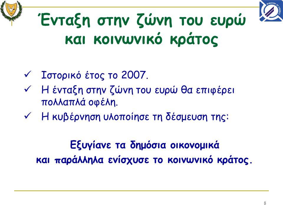 8 Ιστορικό έτος το 2007. Η ένταξη στην ζώνη του ευρώ θα επιφέρει πολλαπλά οφέλη.