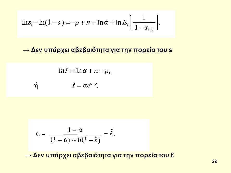 29 → Δεν υπάρχει αβεβαιότητα για την πορεία του s → Δεν υπάρχει αβεβαιότητα για την πορεία του ℓ