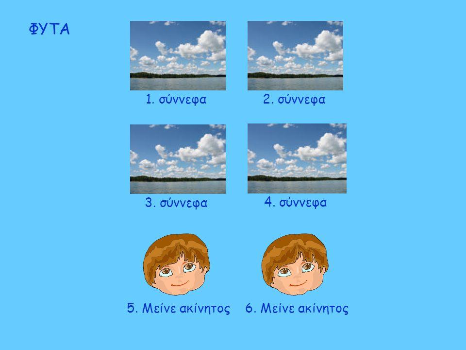5. Μείνε ακίνητος6. Μείνε ακίνητος ΦΥΤΑ 3. σύννεφα4. σύννεφα1. σύννεφα2. σύννεφα
