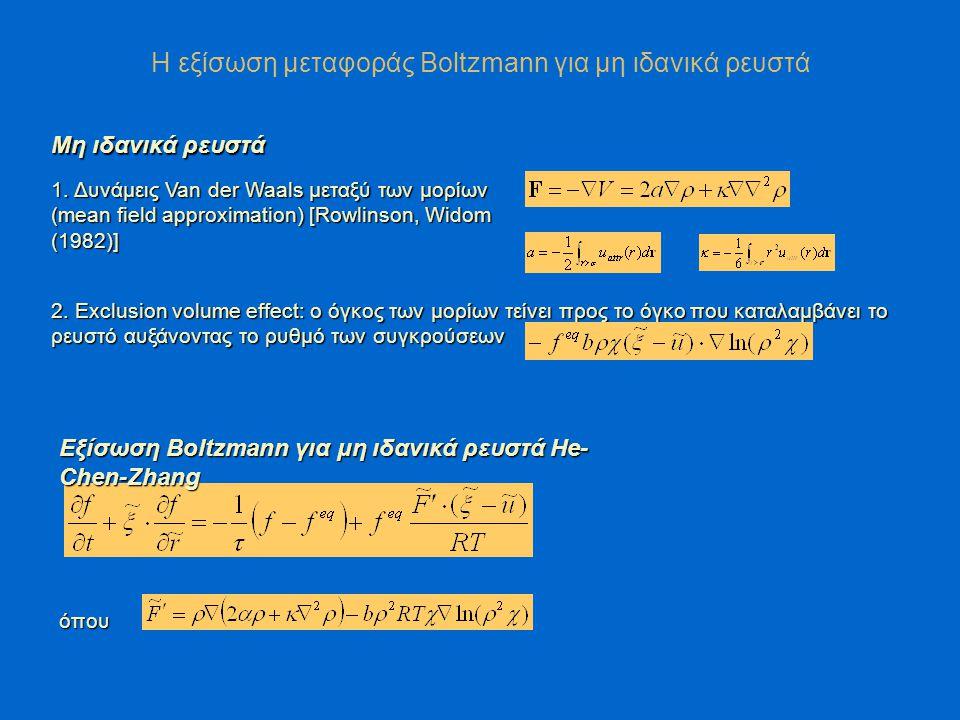 Η εξίσωση μεταφοράς Boltzmann για μη ιδανικά ρευστά 2.