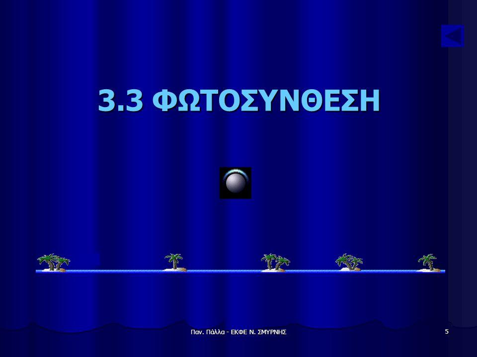 Παν. Πάλλα - ΕΚΦΕ Ν. ΣΜΥΡΝΗΣ 6 Φωτοσύνθεση Διαχρονική πηγή ενέργειας