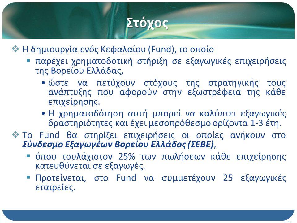 Δομή του EXPORT FUND  Το Export Fund θα είναι κλειστού τύπου με μέγιστη διάρκεια 6 ετών.
