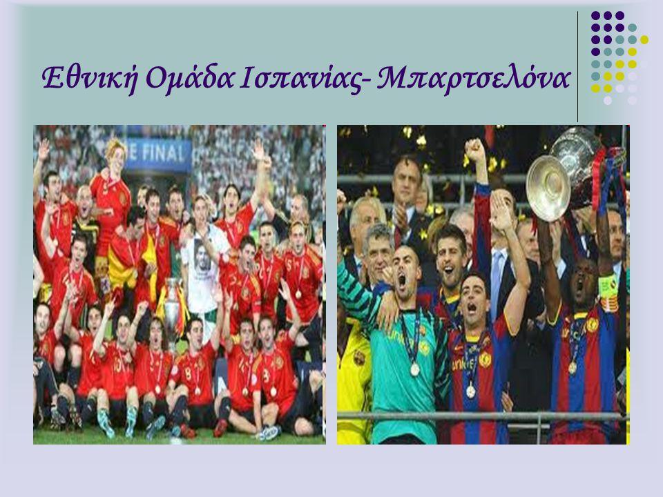 Εθνική Ομάδα Ισπανίας- Μπαρτσελόνα