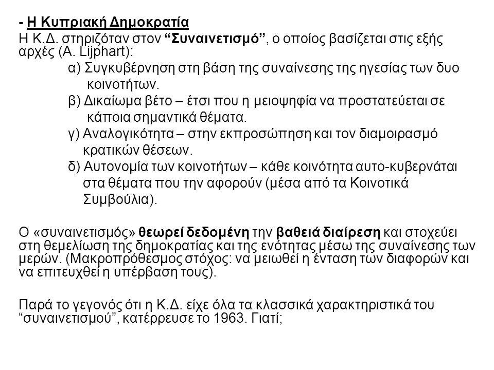 - Η Κυπριακή Δημοκρατία Η Κ.Δ.