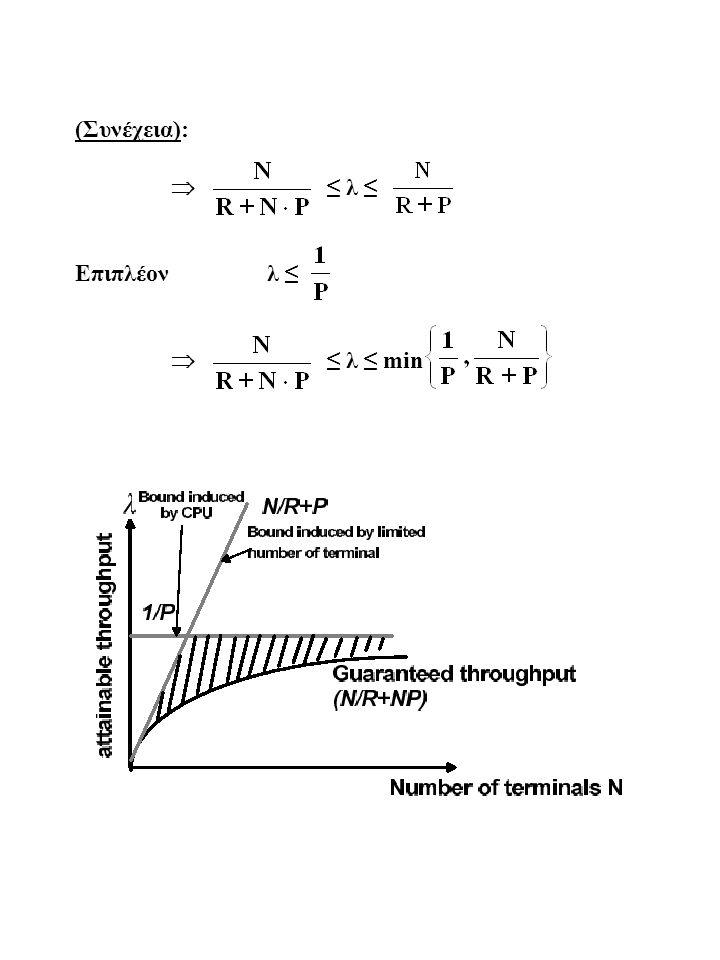 (Συνέχεια):  ≤ λ ≤ Επιπλέονλ ≤  ≤ λ ≤ min