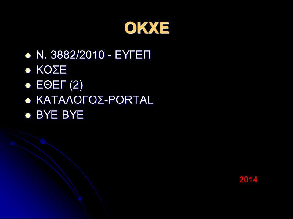 ΟΚΧΕ Ν. 3882/2010 - ΕΥΓΕΠ Ν.