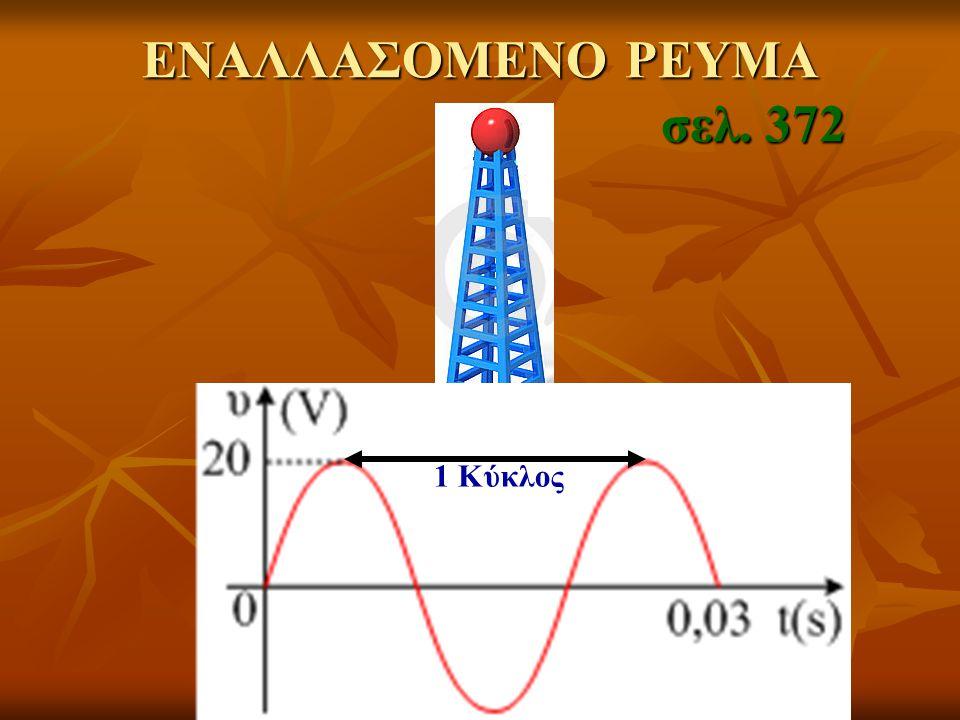 ΕΝΑΛΛΑΣΟΜΕΝΟ ΡΕΥΜΑ σελ. 372 1 Κύκλος