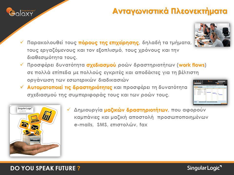 Ανταγωνιστικά Πλεονεκτήματα DO YOU SPEAK FUTURE .