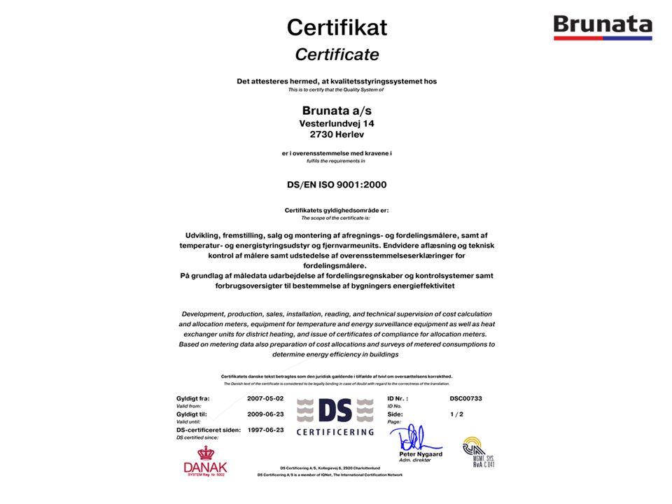 Εξοικονόμηση Ενέργειας Oι κατοχυρωμένοι με δίπλωμα ευρεσιτεχνίας μετρητές Brunata εξασφαλίζουν ότι οι δαπάνες για τη θέρμανση χρεώνονται σύμφωνα με τη μετρούμενη κατανάλωση.