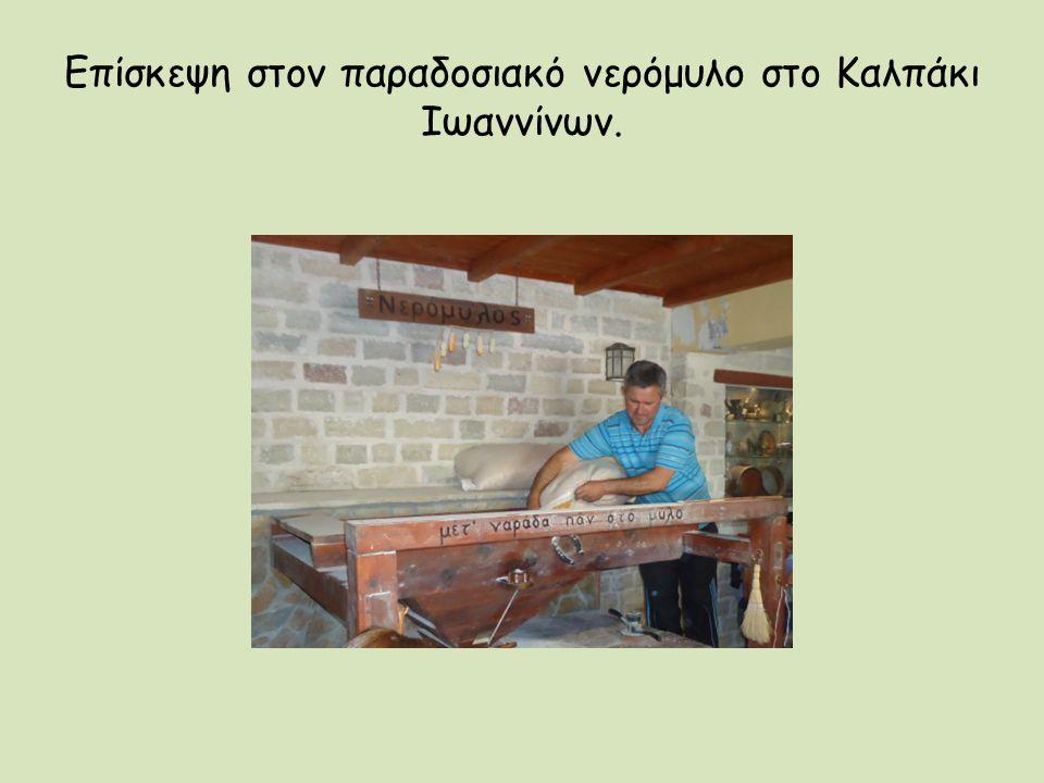 Επίσκεψη στον παραδοσιακό νερόμυλο στο Καλπάκι Ιωαννίνων.