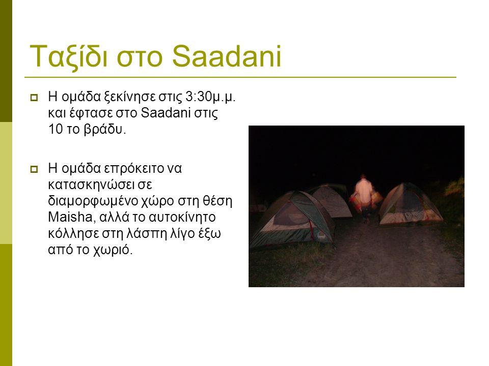 Ταξίδι στο Saadani  Η ομάδα ξεκίνησε στις 3:30μ.μ.