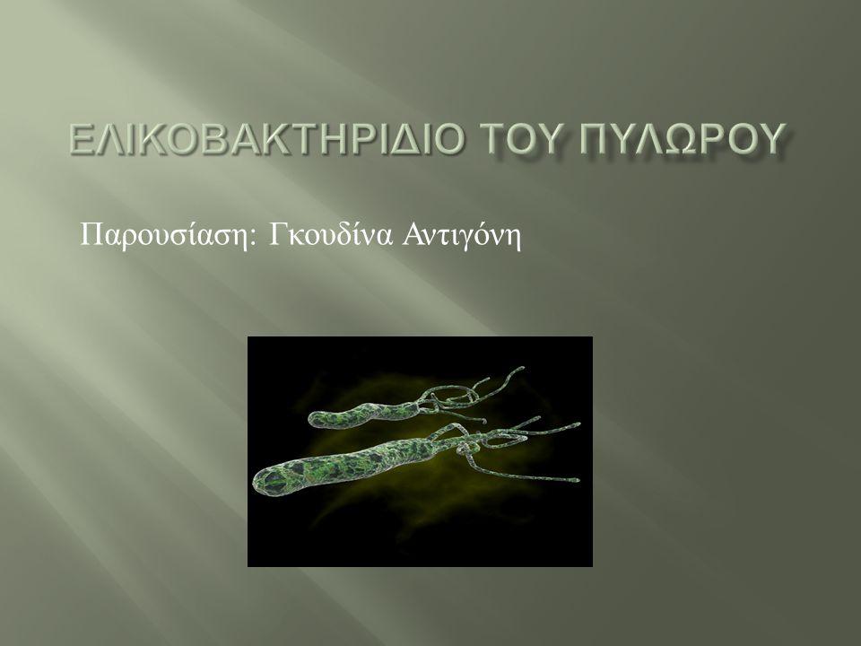 Παρουσίαση : Γκουδίνα Αντιγόνη