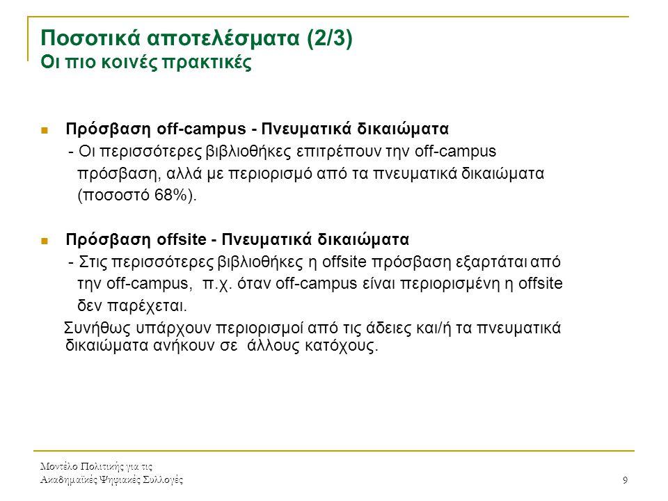 Μοντέλο Πολιτικής για τις Ακαδημαϊκές Ψηφιακές Συλλογές20 Βιβλιογραφία - Δικτυογραφία 1.