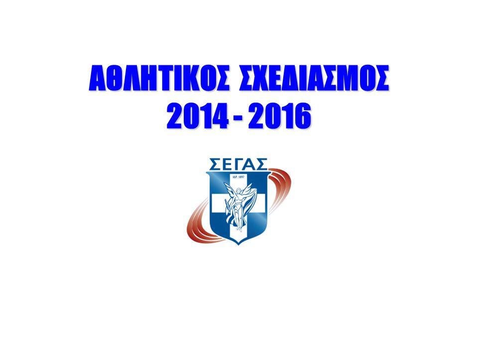 ΑΘΛΗΤΙΚΟΣ ΣΧΕΔΙΑΣΜΟΣ 2014 - 2016