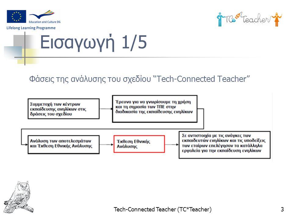 """3 Φάσεις της ανάλυσης του σχεδίου """"Tech-Connected Teacher"""" Εισαγωγή 1/5"""