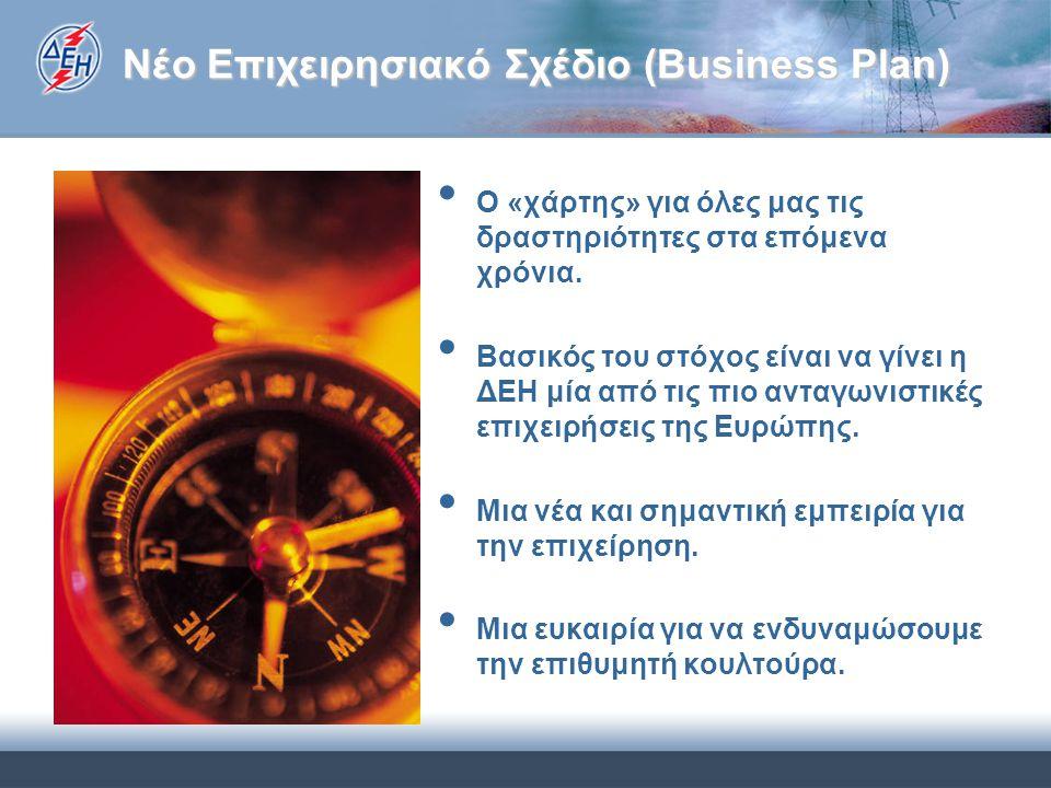Νέο Επιχειρησιακό Σχέδιο (Business Plan) Ο «χάρτης» για όλες μας τις δραστηριότητες στα επόμενα χρόνια. Βασικός του στόχος είναι να γίνει η ΔΕΗ μία απ