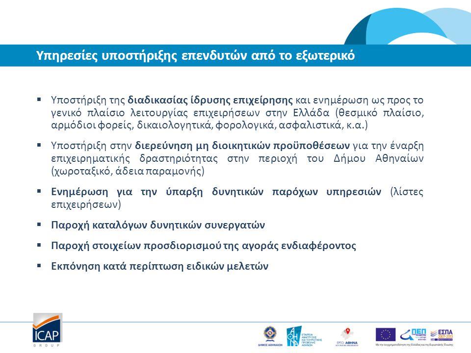  Υποστήριξη της διαδικασίας ίδρυσης επιχείρησης και ενημέρωση ως προς το γενικό πλαίσιο λειτουργίας επιχειρήσεων στην Ελλάδα (θεσμικό πλαίσιο, αρμόδι