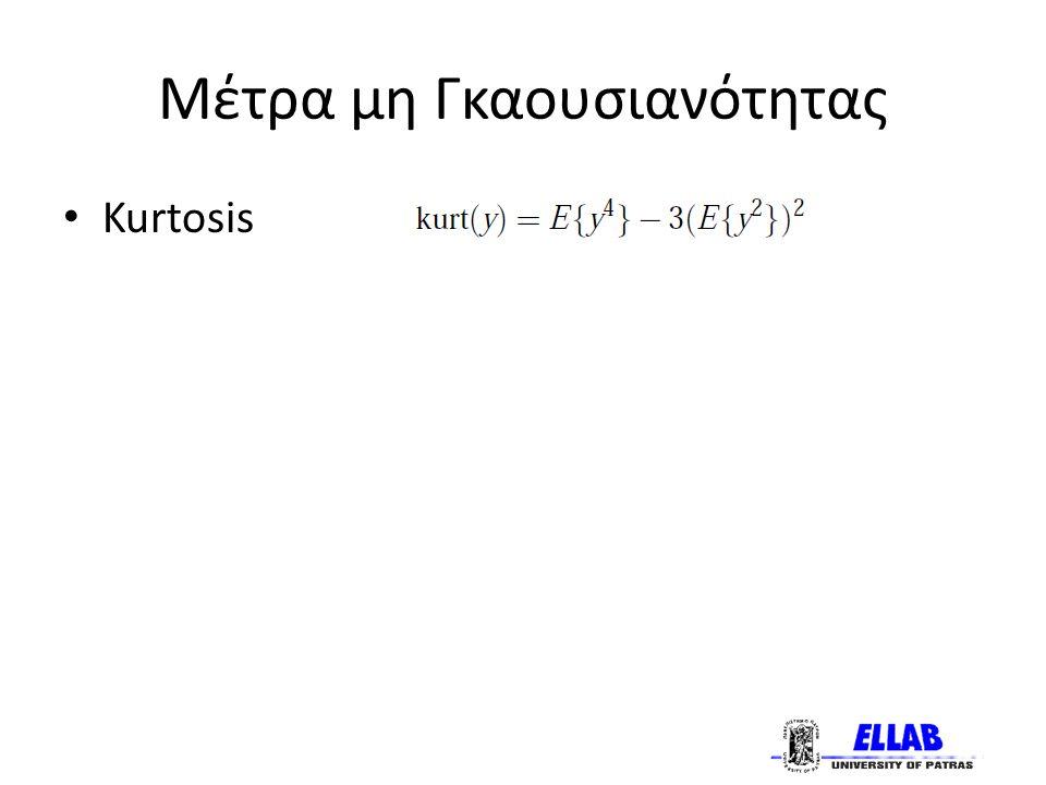 Μέτρα μη Γκαουσιανότητας Kurtosis