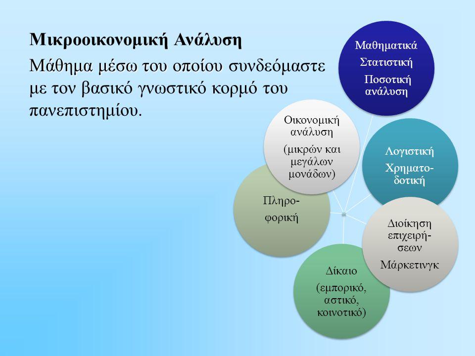 Μάθημα μέσω του οποίου Μάθημα μέσω του οποίου συνδεόμαστε με τον βασικό γνωστικό κορμό του πανεπιστημίου.