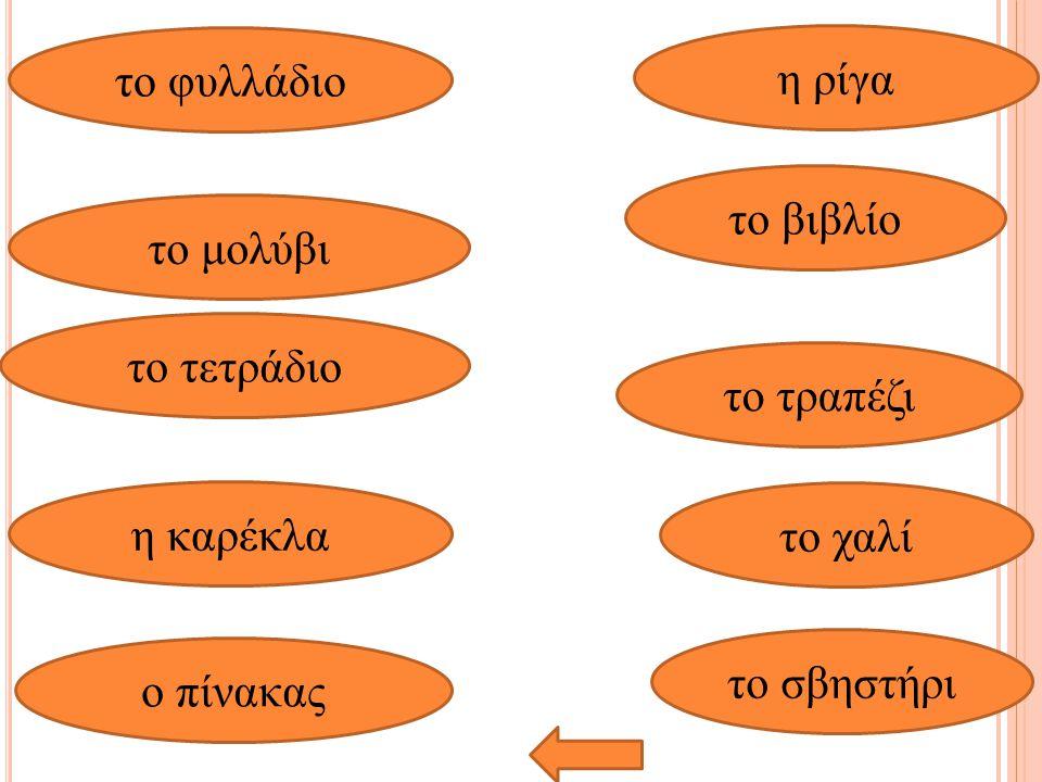 Άσκηση μνήμης (as a starter activity) Τοποθετούνται οι κάρτες του λεξιλογίου στον πίνακα (π.χ αν έχω 8 κάρτες –λέξεις τις τοποθετώ σε 2 σειρές των τεσσάρων).