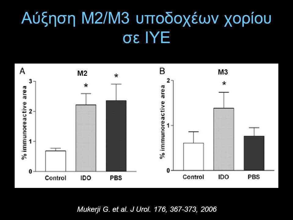 Αύξηση Μ2/Μ3 υποδοχέων χορίου σε ΙΥΕ Mukerji G. et al. J Urol. 176, 367-373, 2006 Μ2 Μ3