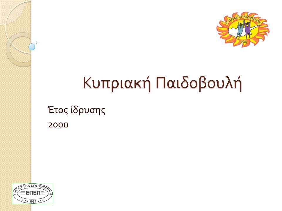 Κυπριακή Παιδοβουλή Έτος ίδρυσης 2000