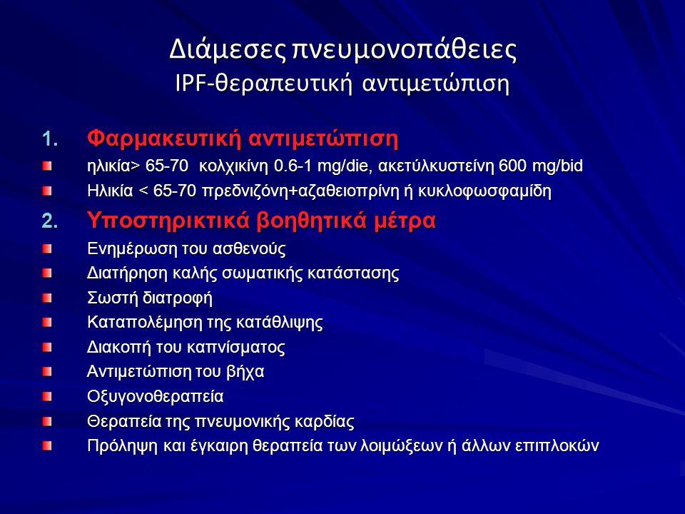 Διάμεσες πνευμονοπάθειες IPF-θεραπευτική αντιμετώπιση 1.