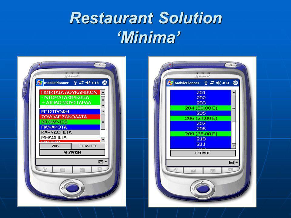 Restaurant Solution 'Lite' Το 'RS Lite' αποτελεί μια ολοκληρωμένη εφαρμογή αντιμετώπισης των καθημερινών απαιτήσεων της λειτουργίας των επιχειρήσεων μαζικής εστίασης.