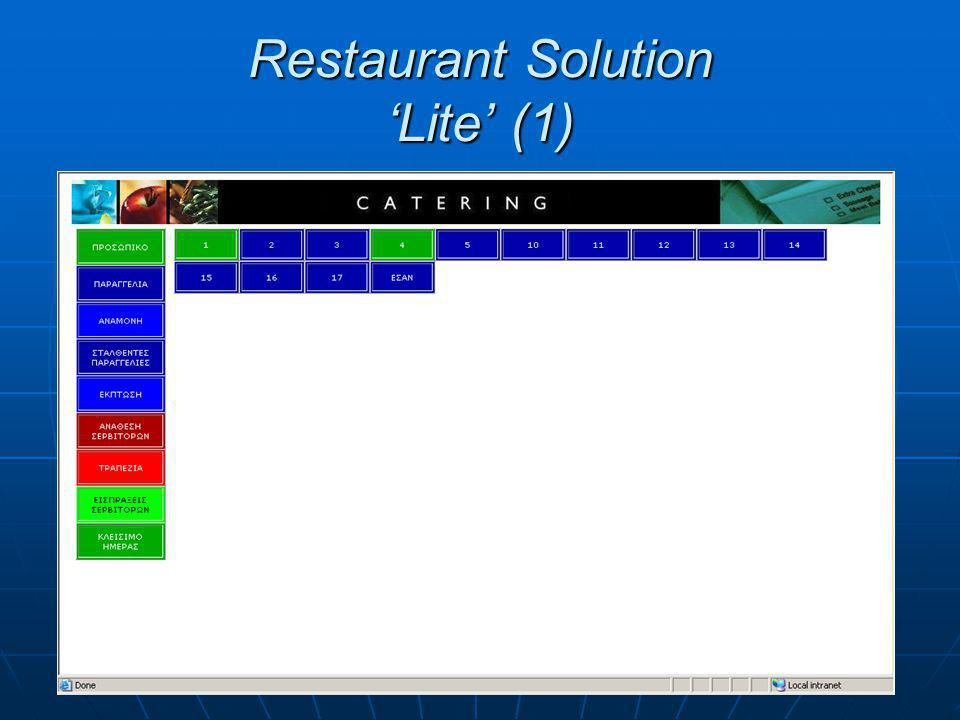 Restaurant Solution 'Lite' (2)