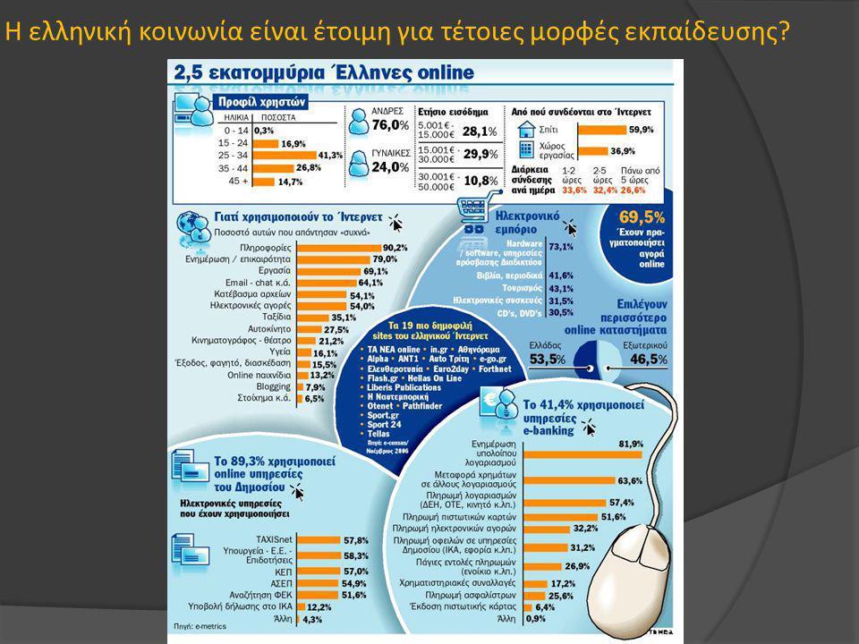 Η ελληνική κοινωνία είναι έτοιμη για τέτοιες μορφές εκπαίδευσης