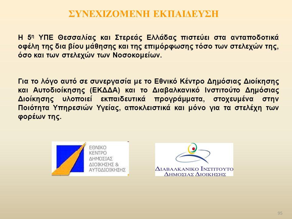 ΣΥΝΕΧΙΖΟΜΕΝΗ ΕΚΠΑΙΔΕΥΣΗ Η 5 η ΥΠΕ Θεσσαλίας και Στερεάς Ελλάδας πιστεύει στα ανταποδοτικά οφέλη της δια βίου μάθησης και της επιμόρφωσης τόσο των στελ