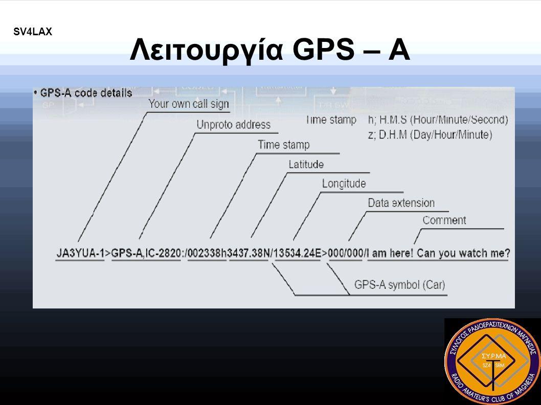 Λειτουργία GPS – A