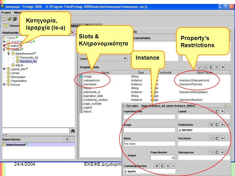 24/4/2004ΕΚΕΦΕ Δημόκριτος – Multi-Mine Form Tab