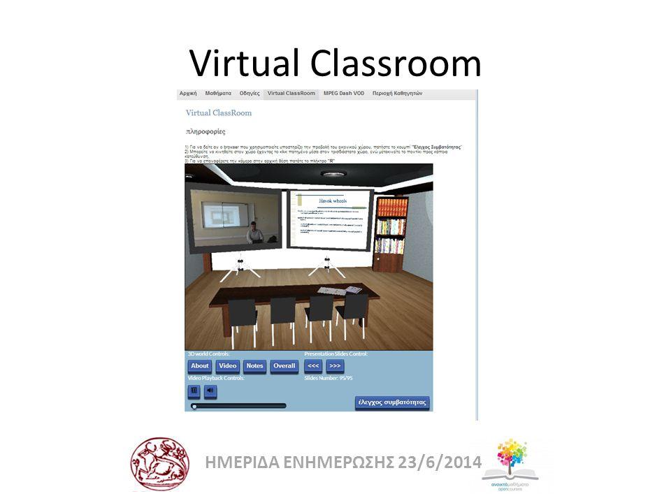 Virtual Classroom ΗΜΕΡΙΔΑ ΕΝΗΜΕΡΩΣΗΣ 23/6/2014