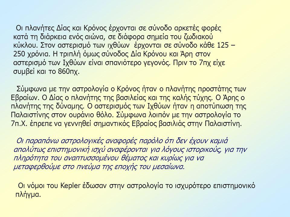 Oι νόμοι του Kepler έδωσαν στην αστρολογία το ισχυρότερο επιστημονικό πλήγμα.