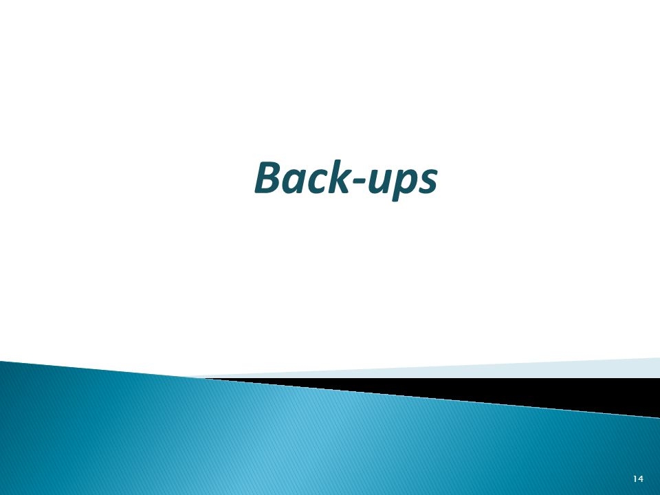 Back-ups 14