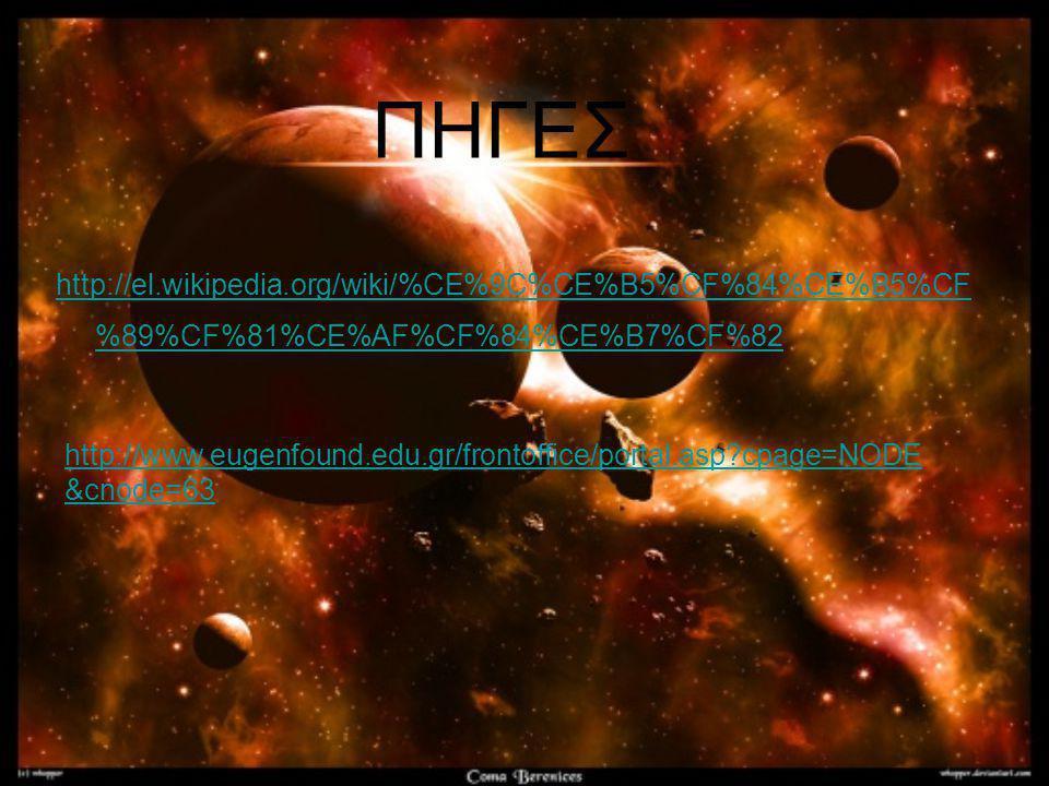 http://el.wikipedia.org/wiki/%CE%9C%CE%B5%CF%84%CE%B5%CF %89%CF%81%CE%AF%CF%84%CE%B7%CF%82 http://www.eugenfound.edu.gr/frontoffice/portal.asp?cpage=N